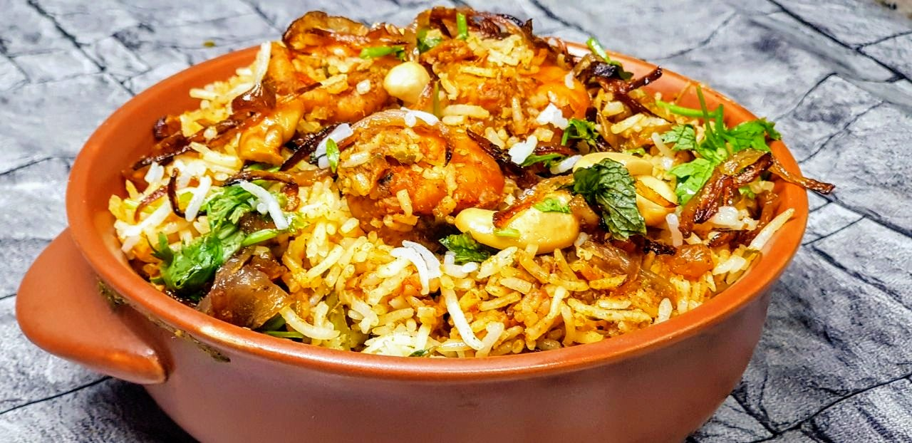 Image result for chemmeen biriyani