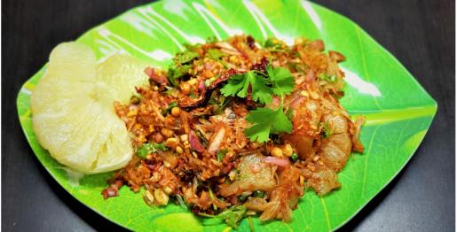 Easy vegetarian thai pomelo salad recipe
