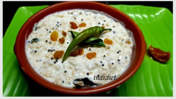 indidiet Curd oats